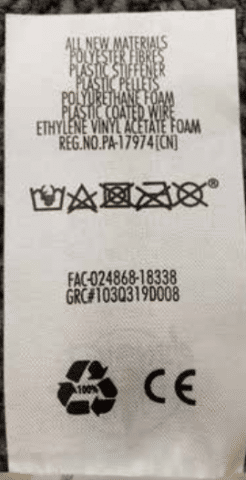 That toys tracking number can be found on the back of the tag